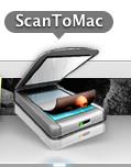 """Dock Icon nach Druck auf """"Scan to PC"""" Taste"""