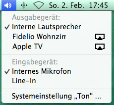 Erweiterte Lautstärkeregelung Mac